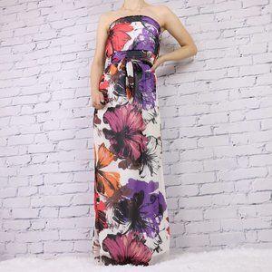 Dynamite strapless floral maxi dress c1